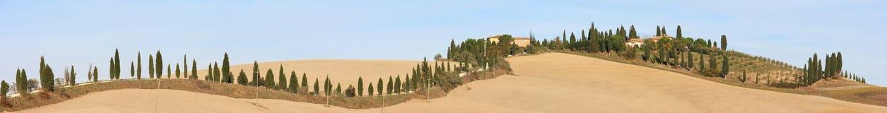 liggandepanorama tuscan Arkivbild