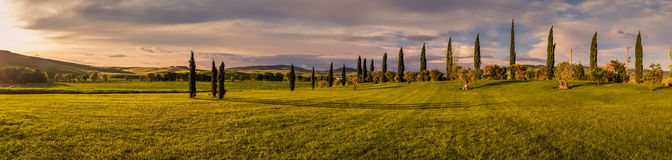 liggandepanorama tuscan Royaltyfria Foton