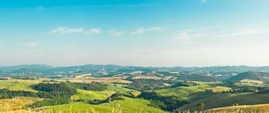 liggandepanorama tuscany Royaltyfri Bild