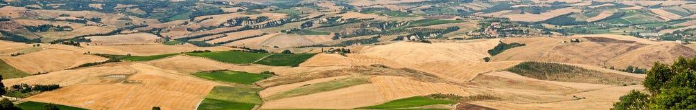 liggandepanorama tuscany Royaltyfria Bilder