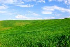 liggandesky för blå green Fotografering för Bildbyråer