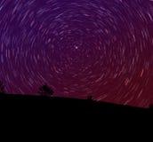 liggandestjärnatrails Fotografering för Bildbyråer