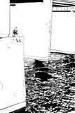 liggandetown Arkivbilder