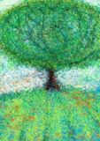 liggandetree Arkivbilder