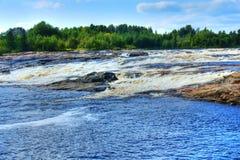 liggandevattenfall Royaltyfri Foto