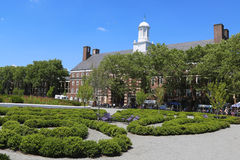Liggett Hall on Governors Island in New York Harbor Stock Image