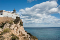 Lighhouse. Lighthouse at a very scenic location on top  of a cliff Stock Photos
