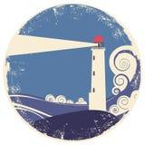 Lighhouse in sea landscape. Stock Photos