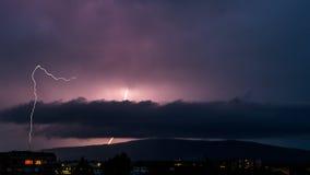 Lighning storm Royaltyfri Foto