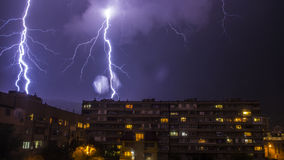 Lighnings in Bulgarien Lizenzfreies Stockfoto