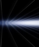 Light. Ray of light with lines over black background Stock Image