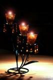 Light. Candelabbro con candele sopra un tavolo Royalty Free Stock Photos