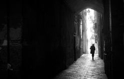 Into the light royalty free stock photography