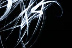 Light 2. Long exposure of an LED light, recording of a movement Royalty Free Stock Photo