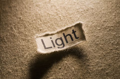 Light. Picture of a word light on it Royalty Free Stock Photo