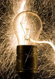 Light. A light bulb glowing without power Stock Images