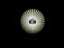 Light. A glowing light  on black background Stock Photo