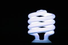 Light. Energy efficient florescent light bulb Stock Photography