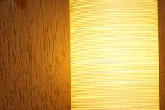 Light. A nice and modern yellow luster Stock Photo