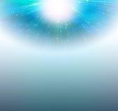 Light. Blue Background of radiating light Stock Photography