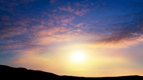 Free Light About The Sky  . Background Sky At Sunset And Dawn . Stock Images - 144762434