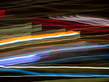 Light abstract. Abstract pattern of city lights from cars, windows, streetlights and bars Stock Photo