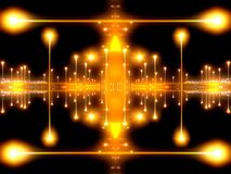 Light Abstract 3. Abstract double symmetrical image of city skyline at night royalty free illustration