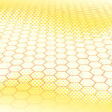 Light abstract background. With honeycombs Stock Illustration