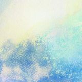 Light abstract blue painted watercolor splashes. Background royalty free illustration