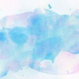 Light abstract blue painted watercolor splashes background.  stock illustration