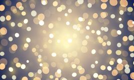 Light abstract bokeh shine or golden glitter effect background. Vector shiny confetti lights for Christmas or birthday background. Design template. Magic Stock Images