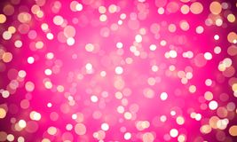 Light abstract bokeh shine of pink glitter effect background. Vector shiny confetti lights for Valentines or birthday background d Royalty Free Stock Photos