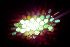 Light abstract of colorful straws. On back Stock Photos