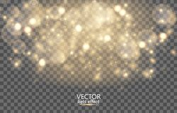 Light abstract glowing bokeh lights. royalty free illustration