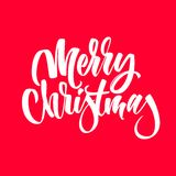 Light Abstract Merry Christmas Lettering. Light abstract calligraphy, lettering with merry Christmas text and pink background for internet sites, gift cards and Royalty Free Illustration