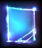 Light abstract neon banner Royalty Free Stock Images