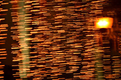 With light. Abstract night acceleration speed motion Royalty Free Stock Image