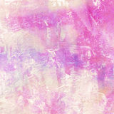 Light abstract pink painted watercolor background. Light abstract blue painted splashes on watercolor paper Stock Images