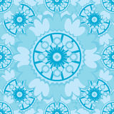 Light abstract seamless pattern with round ornamental elements. Stock Images