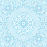 Light abstract seamless pattern with round ornamental elements. Stock Image