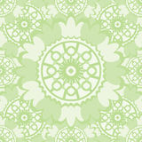 Light abstract seamless pattern with round ornamental elements. Royalty Free Stock Photos