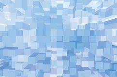 Light Abstract Square Pattern, Bright Blue Large Opart Style Background Horizontal Closeup Royalty Free Stock Photo