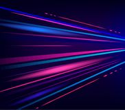 Light abstract technology background. Move motion blur red and blue lights. Vector illustaration Royalty Free Illustration
