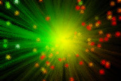 Light Abstraction. With optical fiber Royalty Free Stock Images