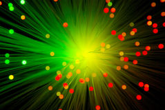 Light Abstraction. With optical fiber Stock Photos