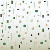 Light air abstract background . Jewel background from different 3D imitation beads of green and white spheres on a light background poster royalty free illustration