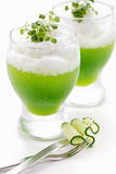 Light air cocktail with resh cucumber juice Stock Photo