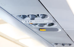 Light and air system in the plane Royalty Free Stock Photo