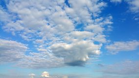 Light air white clouds in sunny weather Stock Image