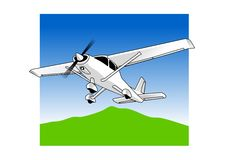 Light Aircraft. Vector illustration of a light airctraft Stock Photo